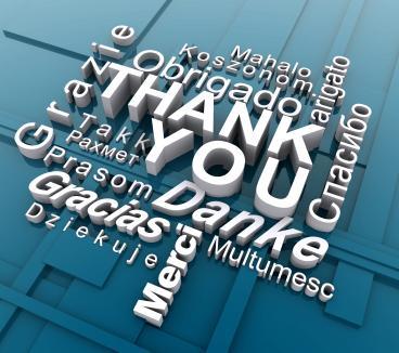 Thank You, Danke, Merci, Grazie, Gracias - Make Time to Say Thank You
