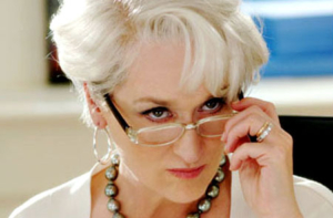 Meryl Streep as Miranda Priestly In The Devil Wears Prada