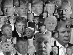 Donald Trump - Many Faces - Many Frowns