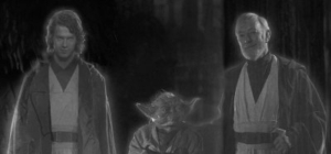 Anakin Skywalker, Yoda, Obi-Wan Kinobi Ghosts