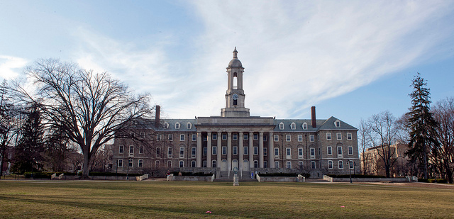 Penn State's Iconic Old Main without The Elm Tree on the Right