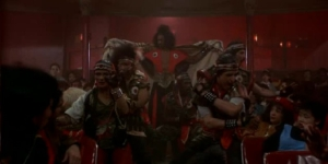 Shonuff makes his entrance at the movie theater in The Last Dragon