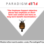 The Employee Support objective places less emphasis on short-term cost control and more on long-term benefit maximization.