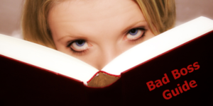 Woman Reads Bad Boss Guide Book