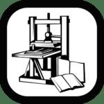 A printing press represents the printing press era of leadership communication